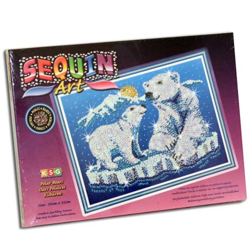 Sequin Art & Bead Polar Bears