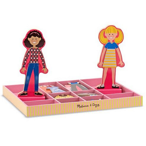 Melissa & Doug Abby & Emma Magnetic Wooden Dress-Up