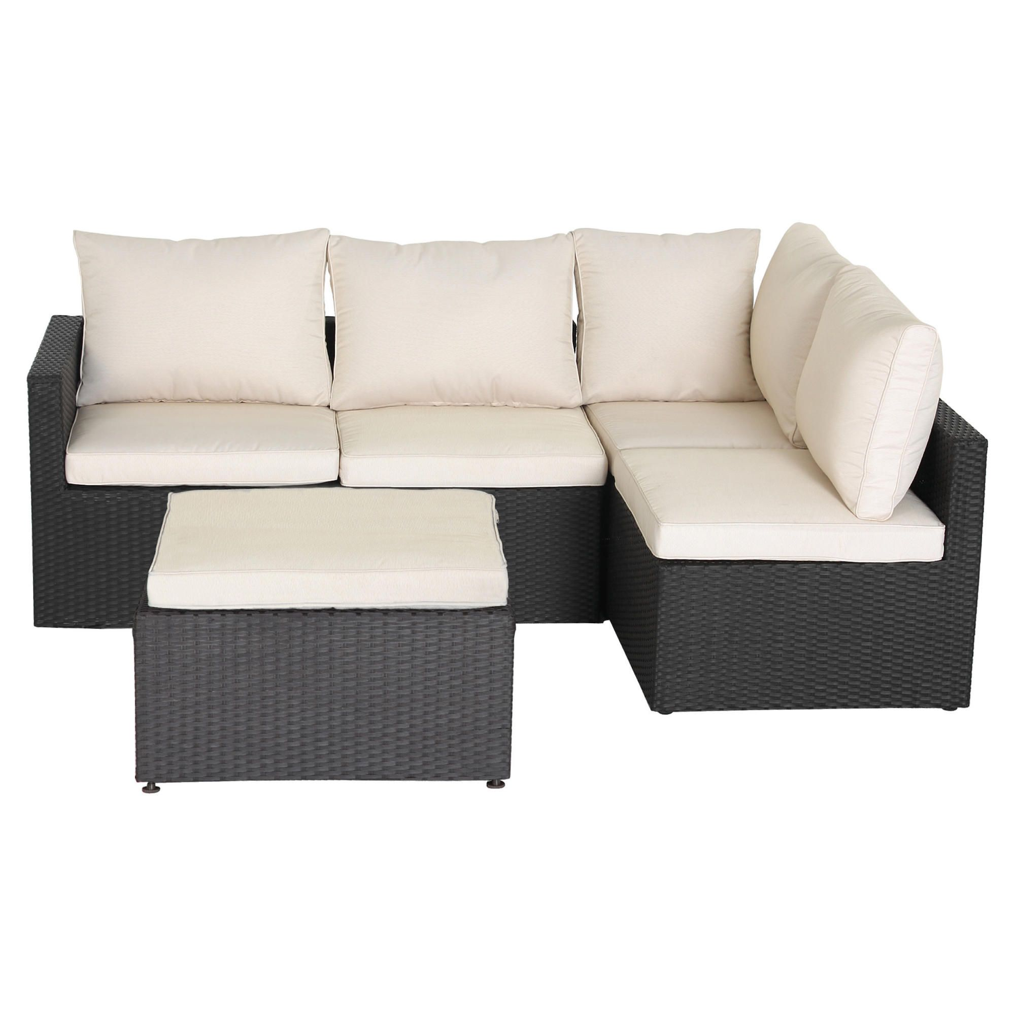 Darwin Corner Sofa Set (Aluminium) at Tesco Direct