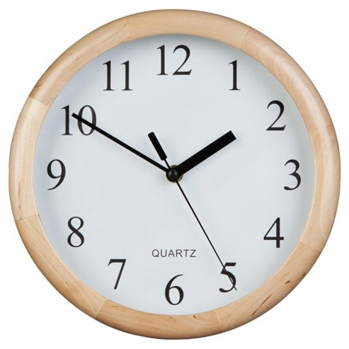 buy tesco clocks wooden wall clock from our clocks range. Black Bedroom Furniture Sets. Home Design Ideas