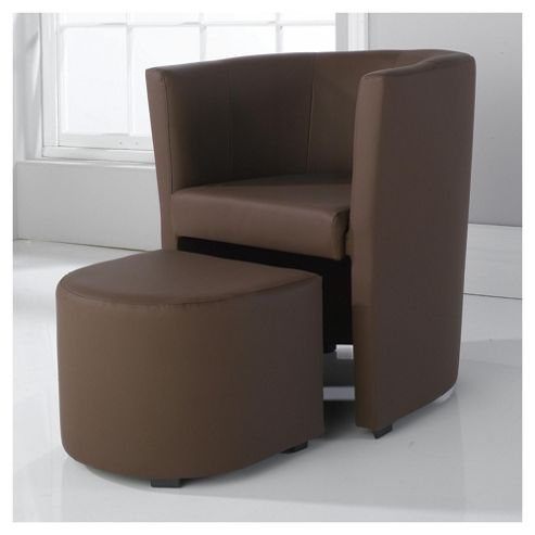Tub And Stool Brown
