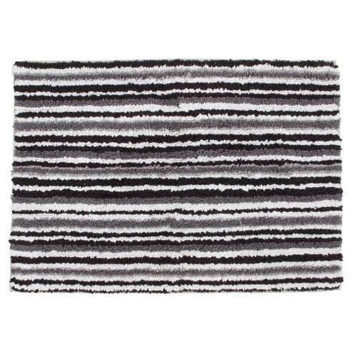 Tesco Linear Bath Mat Black