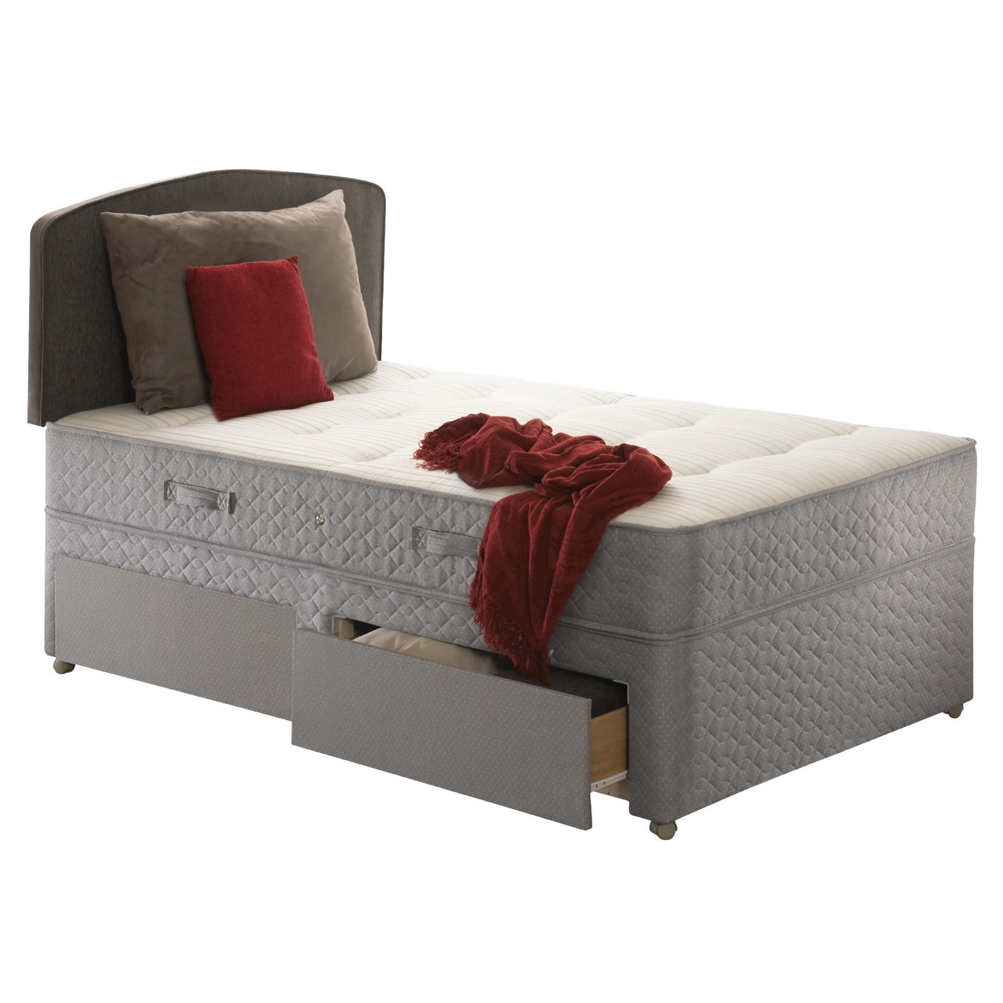 Sealy Posturepedic Ortho Backcare Plus Single 2 Drawer Divan Bed at Tesco Direct