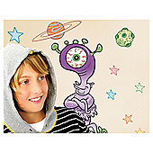 FunToSee Outer Space Aliens Wall Stickers