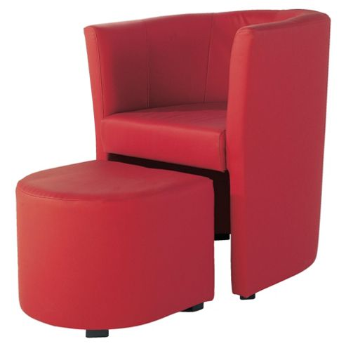 Tub And Stool Red