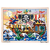 Melissa & Doug Pirate Adventure 48 piece Wooden Jigsaw Puzzle