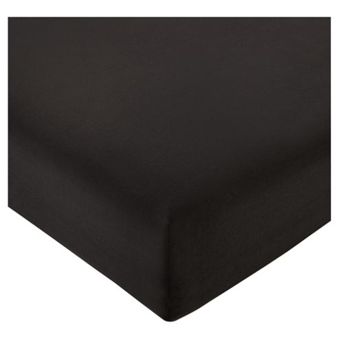 Tesco Deep Fitted Sheet Black, Kingsize