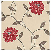 Dulux Camille Wallpaper, Crimson
