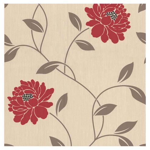 Dulux Camille Wallpaper, Crimson
