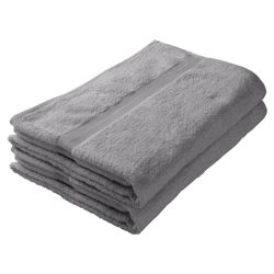 Tesco Bath Sheet Pair Silver