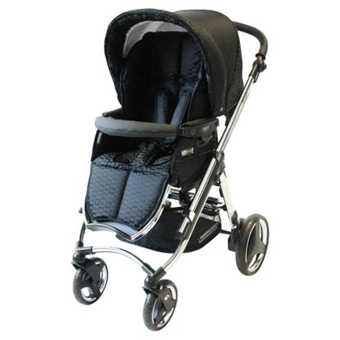 Bebecar Ip-Op chrome Evolution pushchair Black Velvet