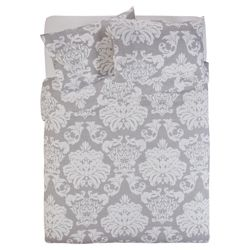 Tesco Regency Damask Grey Duvet Double