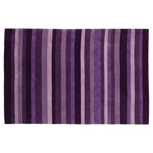 Tesco Rugs Stripes Rug Plum 150X240Cm