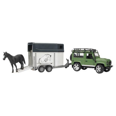 Land Rover, Horse Trailer & Horse