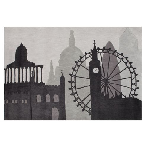 Tesco Rugs London Skyline Rug 150X240Cm