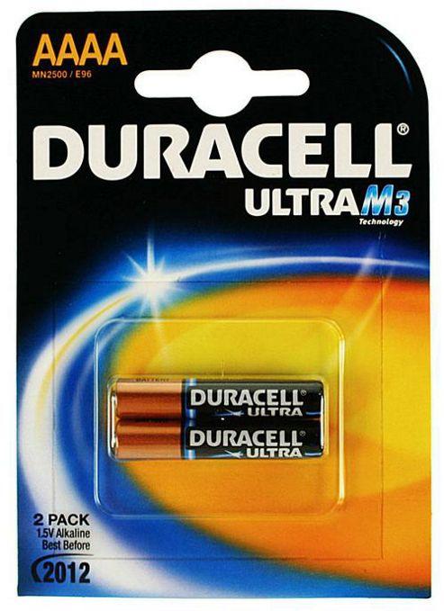 Duracell 2 Pack MN2500 AAAA Alkaline Batteries