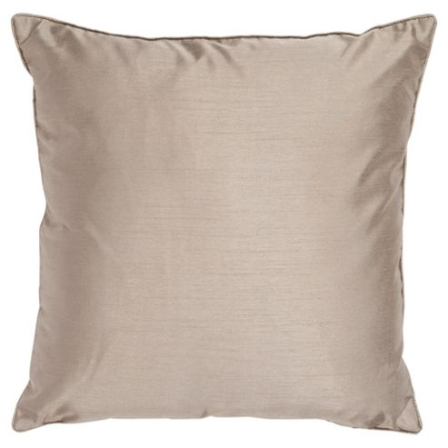 Tesco Set Of 2 Faux Silk Cushions, Mocha