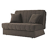 Morton Fabric Double Sofa Bed, 2 Seater Sofa Chocolate