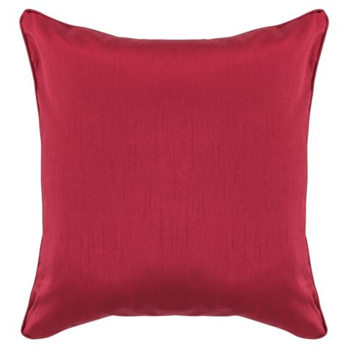 Tesco Set Of 2 Faux Silk Cushions, Red