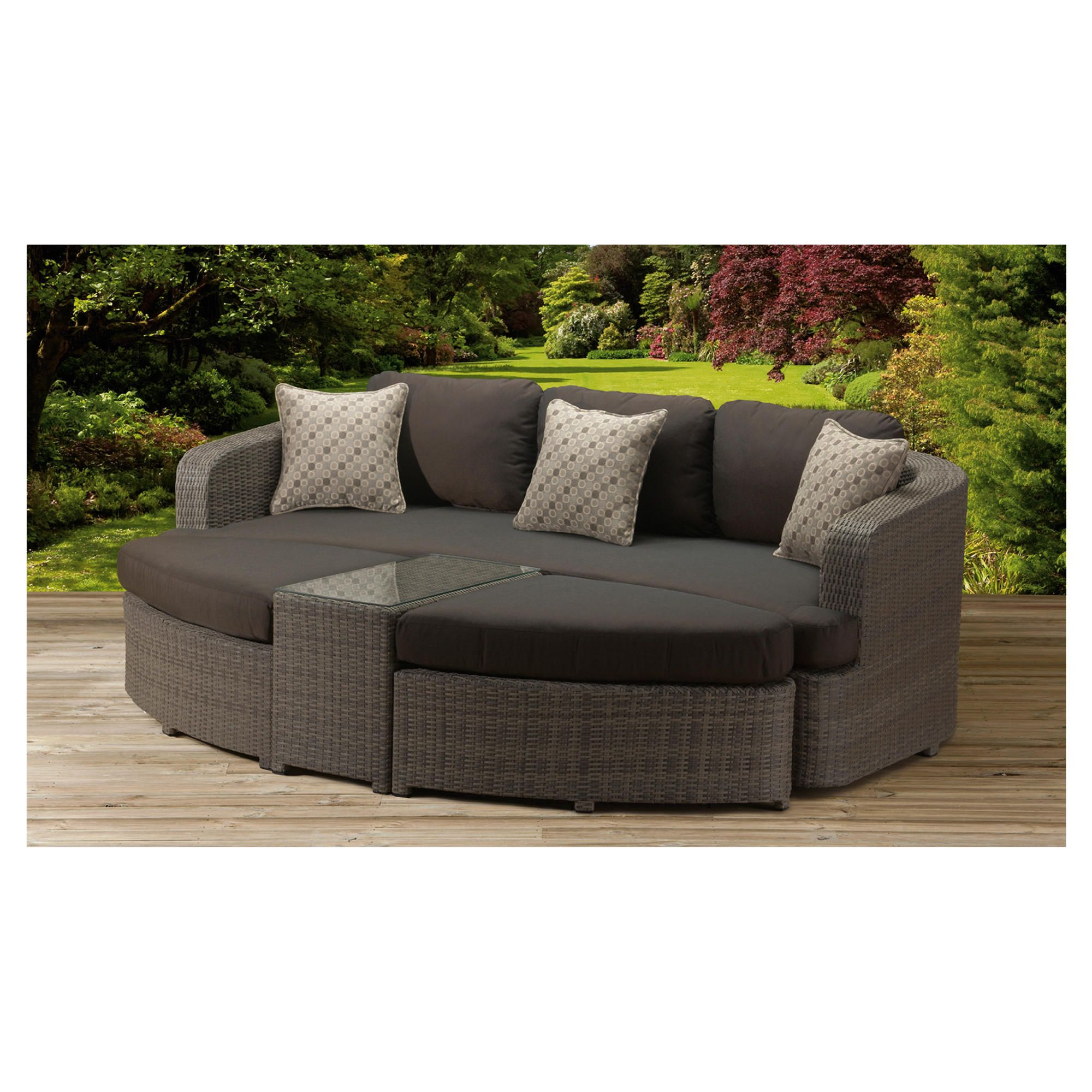 Homes & Gardens 3 Seat Lounger at Tesco Direct