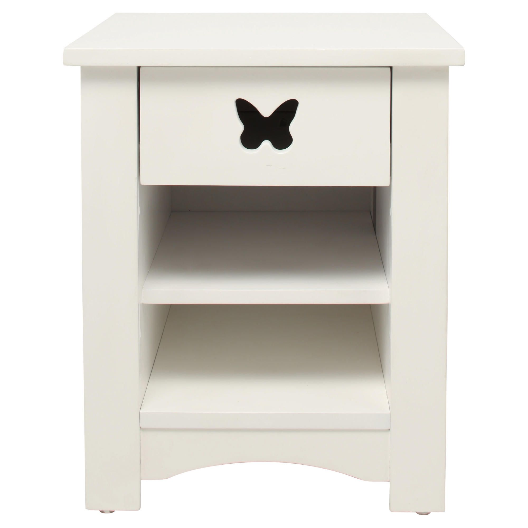 butterfly bedside table white - Tesco Bedroom Furniture