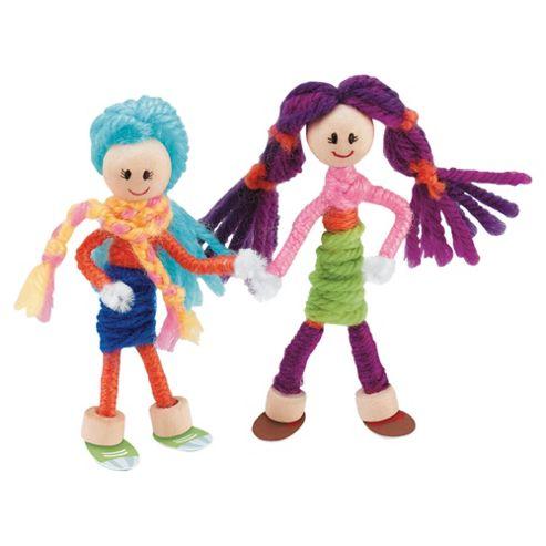 Woollie Dolls - Mini Doll House & Yarn Dolls Making Kit