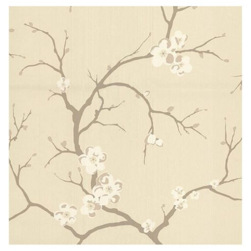 Dulux Blossom Wallpaper, Almond