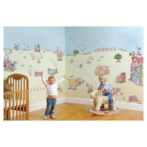 FunToSee Funberry Farm Wall Stickers Room Make-Over Kit