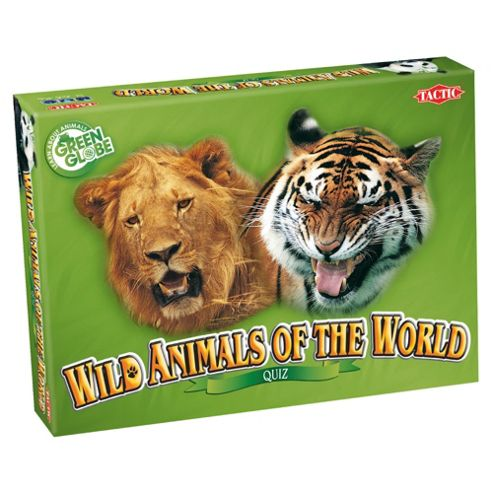 Wild Animals Of The World Quiz Card Game
