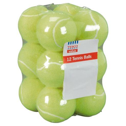 Tesco Value tennis balls, 12 pack