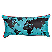 Hiccups World Map Cushion