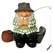 Woodland Wilf Goes Fishing Gnome