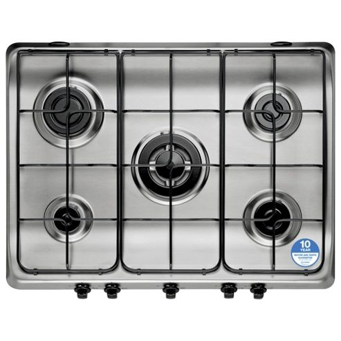Indesit PIM750, Stainless Steel , Gas Hob, 70cm