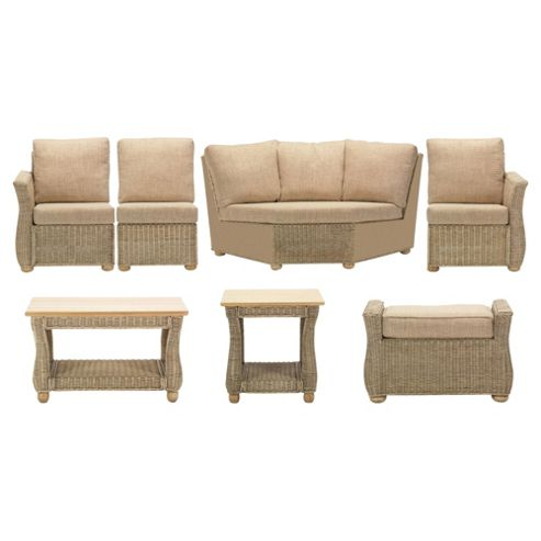 Corsica 7 Pc Conservatory Set (Left, Right, Armless, Corner, Coffee table, Lamp table & Footstool)