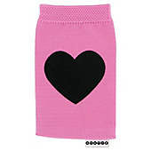 Trendz Phone Sock With Black Velvet Heart Universal