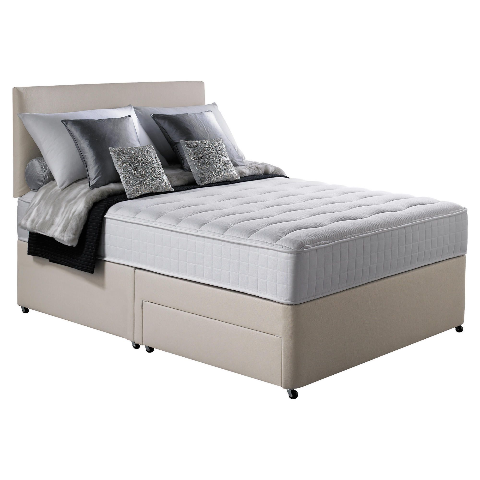 Silentnight Pocket Essentials Memory Foam King 2 Drawer Divan Bed. at Tescos Direct