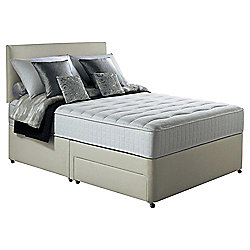 Silentnight Foxton King Size Divan Bed with 2 Drawers, 1000 Pocket Memory