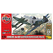 Airfix A50038 Dogfight Doubles Junkers Ju-88 & Hawker Hurricane 1:72 Scale Military Aircraft Gift Set