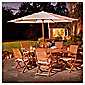 Dorney Teak 6 Seat Set Dressed inc Parasol