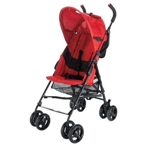 Tesco Ladybug Pushchair And Raincover, Red