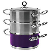 Morphy Richards 3 Tier Steamer, Purple