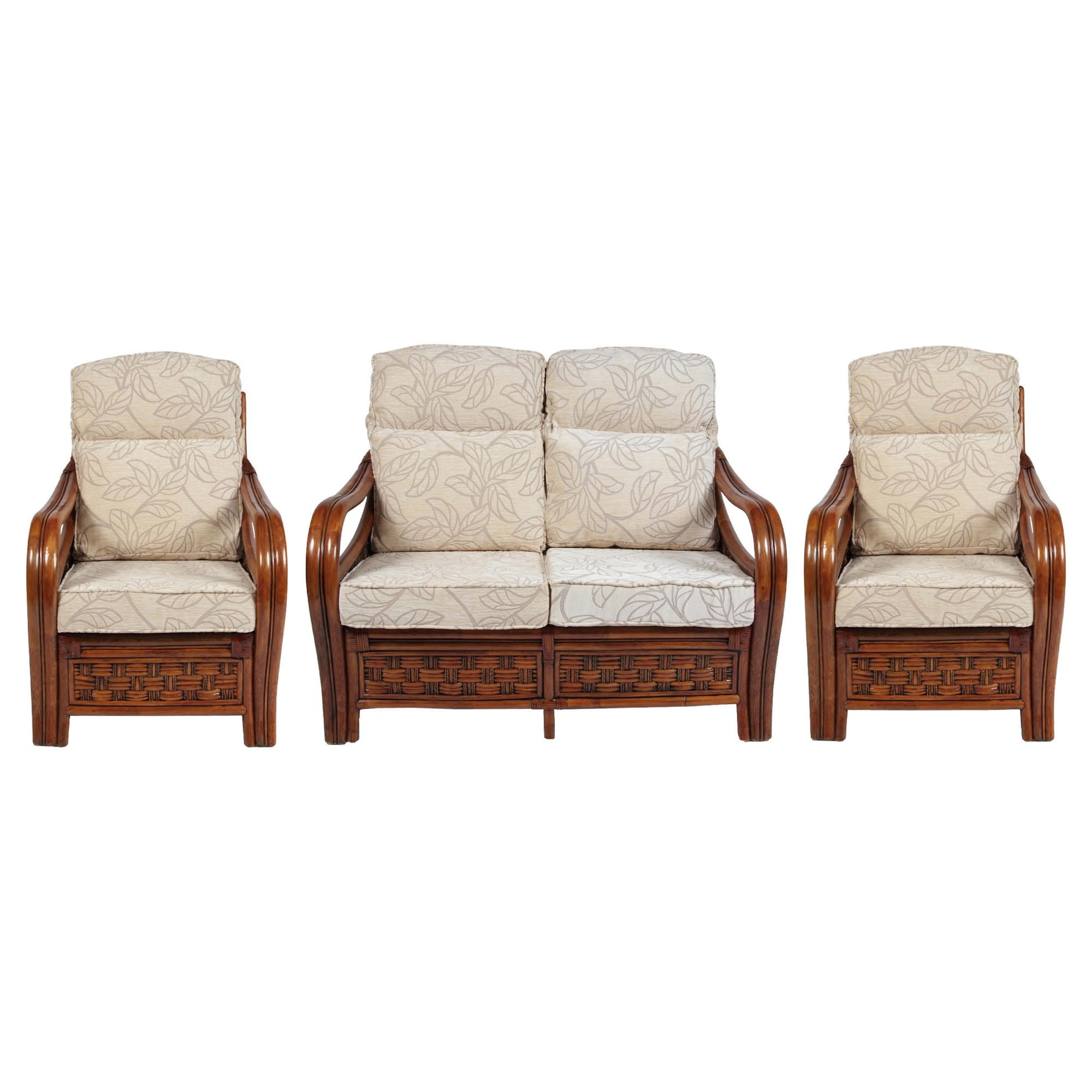 Santiago 3 Piece Suite Conservatory Set (sofa & 2 x chairs) at Tesco Direct