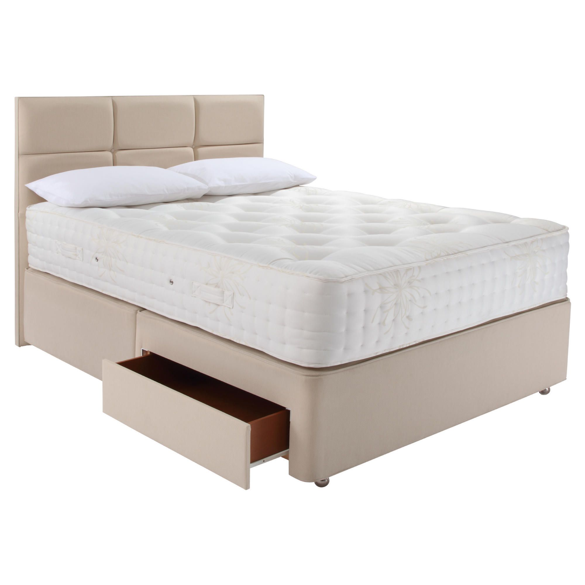 Relyon Luxury 1800 2 Drawer Divan Bed Superking at Tesco Direct
