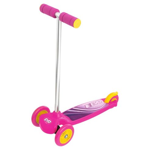 Evo Move 'N' Groove 3-Wheel Scooter, Pink & Purple