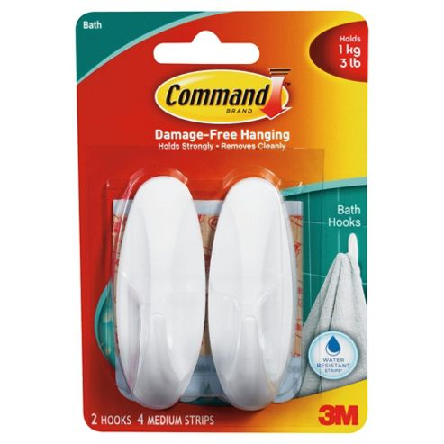 Command Shower Hooks, Medium
