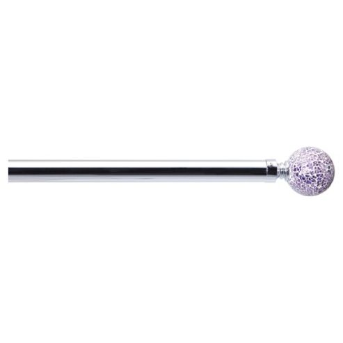 Premium 25/28mmCurtain Pole Purple Mosaic Finial 1.2-2.1M