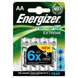 Energizer 4 Pack Rechargeable AA batteries