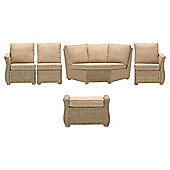Desser Corsica 5-piece Rattan Conservatory Furniture Set with Footstool