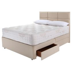 Relyon Luxury 1500 2 Drawer Divan Bed Double