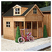 Mercia 7ft x 7ft Dorma Window Wooden Playhouse, with Veranda